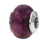 Prerogatives Sterling Purple Magnesite GemstoneBead - J298190