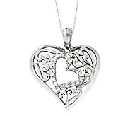Sentimental Expressions Sterling 18 Forever Heart Necklace - J310590
