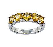 Sterling 2.20 cttw Citrine 5-Stone Ring - J311190