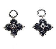 Barbara Bixby Sterling Black Sapphire Earring Drops - J311790
