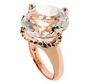Bronzo Italia Round Faceted Quartz Ring - J312290