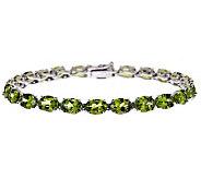 Sterling Silver 20.00 cttw Peridot Tennis Bracelet - J314790