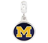 Sterling Silver University of Michigan Dangle Bead - J314990