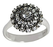 Diamonique 1.25 ct tw Sterling Floral Ring - J315090