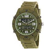 Mens USMC Regimen Green Analog-Digital Chronograph Watch - J315390