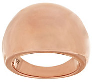 Bronzo Italia Bold Polished Domed Tapered Band Ring - J317790