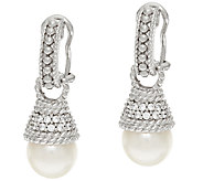 Judith Ripka Sterling Cultured Pearl Drop Earrings - J323390