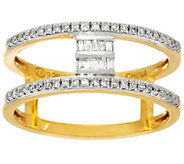 Baguette Bar Diamond Ring, Sterling, 1/5 cttw, by Affinity - J326090