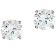 Diamonique 2.00ct tw Round Sterling Silver Stud Earrings w/Gift Box - J326390