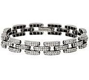 As Is Sterling Silver 8 Diamond Cut Bracelet by Silver Style - J327690