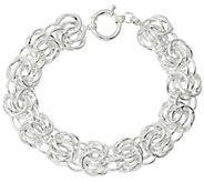 Sterling Silver Rosetta Fancy Woven 8 Bracelet, 20g by Silver Style - J329290