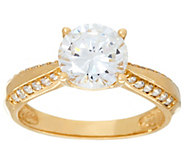 As Is Diamonique 2.00 ct Solitaire Ring, 14K - J331390