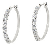 Diamonique 3/4 Polished Hoop Earrings, 14K Gold - J334690