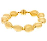 Oro Nuovo 6-3/4 Polished Nugget Bracelet, 14K - J335890