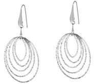 Italian Silver Oval Cascading Diamond Cut Sterling Earrings - J345990