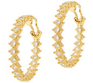 Judith Ripka 14K Clad 1.55 cttw Diamonique Hoop Earrings - J347890