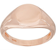 Sterling Silver Polished Signet Ring by Silver Style - J349890