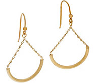 As Is Italian Gold Polished Chain Drop Earrings 14K Gold - J351290