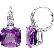 14K 12.45 cttw Amethyst & 1/5 cttw Diamond Earrings - J377190