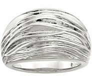 Sterling Pleated Domed Ring by Silver Style - J379690