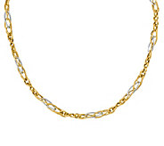 Italian Gold 18 Two-Tone Infinity Link Necklace, 14K - J381890
