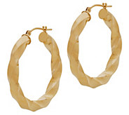 EternaGold 1-1/4 Polished Twist Hoop Earrings,14K Gold - J383290