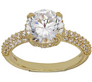 Judith Ripka 14K Clad 3.75 cttw Diamonique Solitaire Ring - J383590