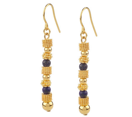 Jacqueline Kennedy Reproduction Lapis Earrings