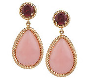 Smithsonian Colors of Opal and Gemstone Dangle Earrings 14K - J273591