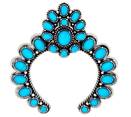 sleeping turquoise naja sterling silver enhancer by american west qvc
