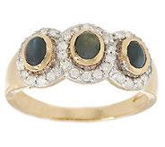 Cats Eye Alexandrite & 1/4 ct tw Diamond Ring 14K Gold - J284791