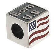 As Is Taras Diary Sterling Silver Born in the USA Charm - J288591
