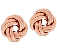 EternaGold Polished Love Knot Earrings 14K Gold - J296891