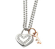 Stainless Steel Heart Pendant with Chain - J302491