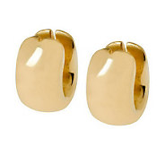 Arte dOro Wide Oval-Shaped Huggie Hoop Earrings, 18K Gold - J305591