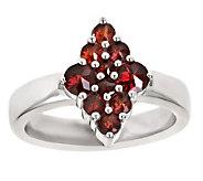 Garnet Diamond-Shaped Cluster Ring, Sterling - J305791