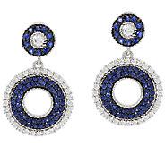 Judith Ripka 118 Facet Diamonique & 3.20 Sapphire Earrings - J317091