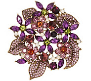 Joan Rivers Crystal Fantasy Floral Bouquet Brooch - J318491