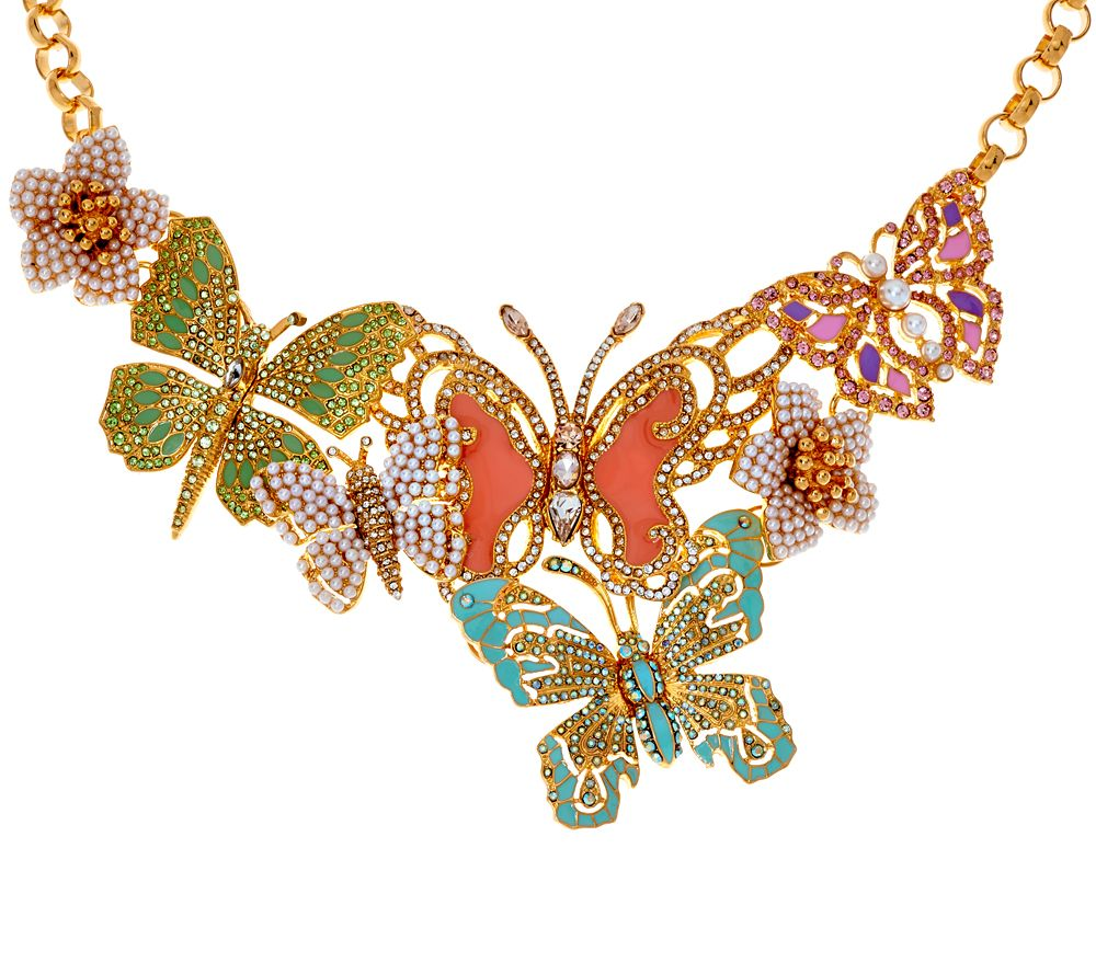 Joan rivers lt ed crystal butterfly statement necklace for Joan rivers jewelry necklaces