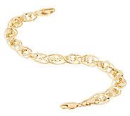 As Is 14K Gold 6-3/4 Love Knot Oval Link Bracelet, 3.4g - J322091