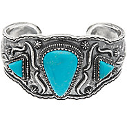Jennifer Nettles Sterling Silver Bold Turquoise Cuff - J324091