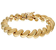 14K Gold 7-1/4 Polished San Marco Bracelet, 15.3g - J324291