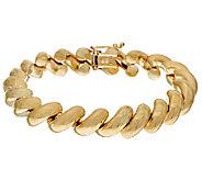 14K Gold 7-1/4 Polished San Marco Bracelet, 15.3g - J324291