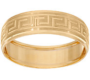 14K Gold Greek Key Design Band Ring - J324691