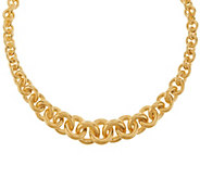 Bronzo Italia Polished Graduated Rolo Link Collar Necklace - J325791