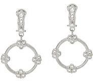 Judith Ripka Sterling Diamonique Garland Drop Earrings - J327391