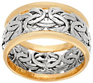 As Is 14K Gold Byzantine Inlay Band Ring - J327691