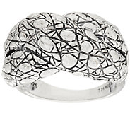 As Is JAI John Hardy Sterling Croco Textured Crossover Ring - J328491
