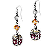 Barbara Bixby Sterling & 18K Citrine & Garnet Dangle Earrings - J334191