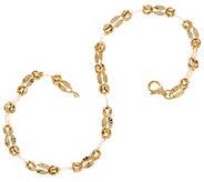 14K Gold 7-1/4 Byzantine Mirror Link Bracelet, 2.1g - J334491